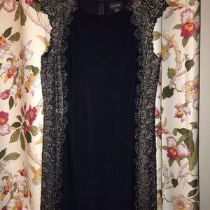 Xscape Size 20W Navy Blue Gown w/ metallic detail